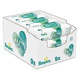 Pampers Baby Feuchttücher Aqua Pure, Mit 99% Purem Wasser, Dermatologisch...