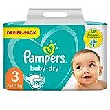 Pampers Größe 3 Baby Dry Windeln, 128 Stück, Für Atmungsaktive...